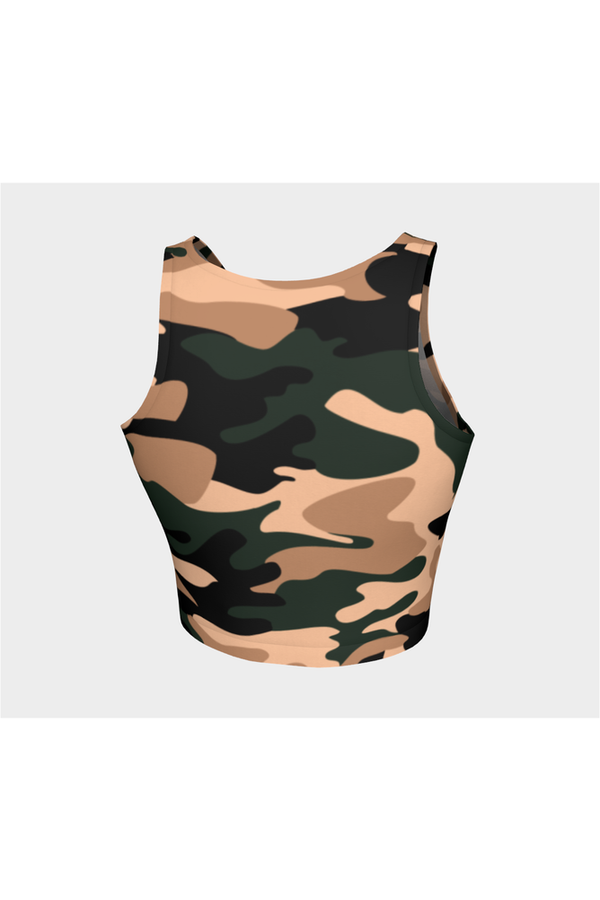 Nude Tone Camouflage Athletic Top