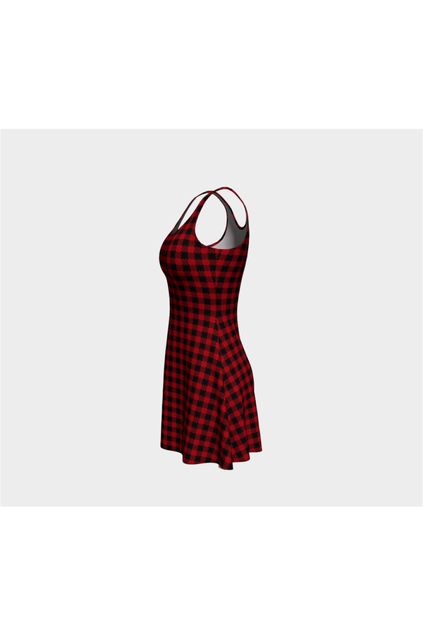 Checkered Pass Flare Dress