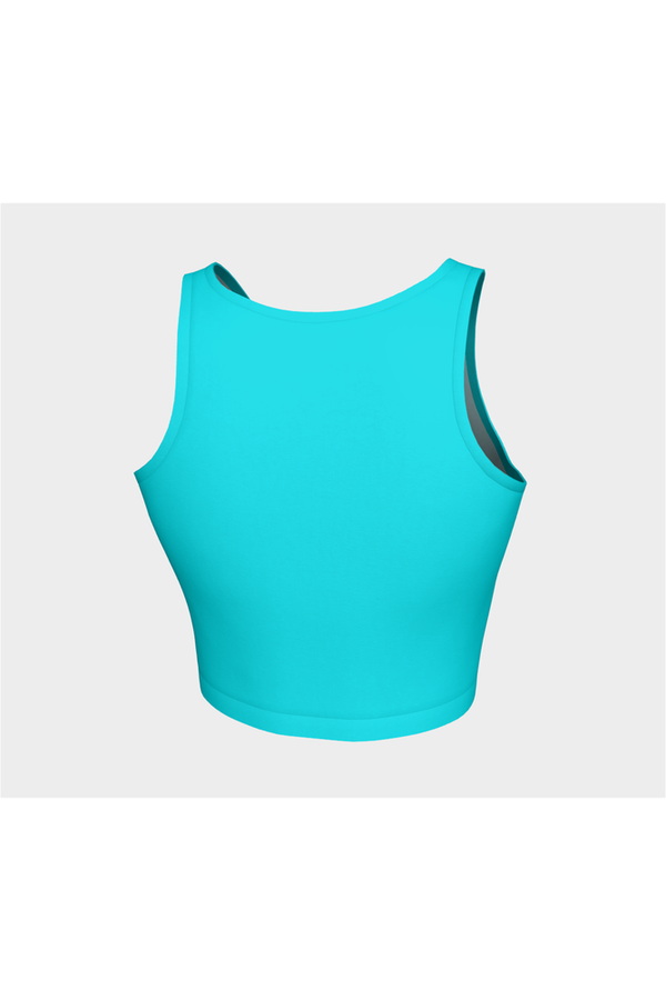 Aqua Blue Athletic Top