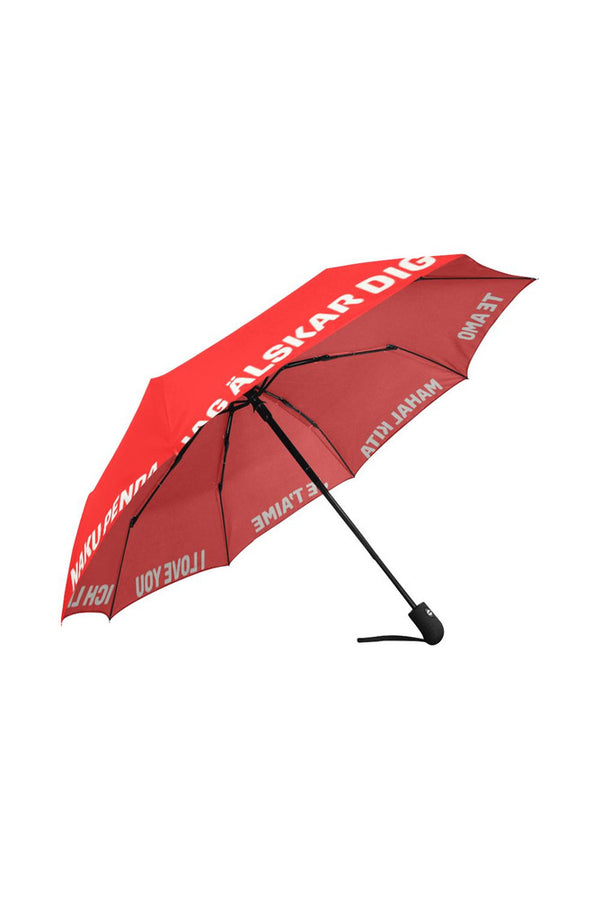 I love you umbrella Auto-Foldable Umbrella (Model U04)