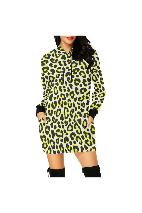 leopard tunic hood All Over Print Hoodie Mini Dress (Model H27)
