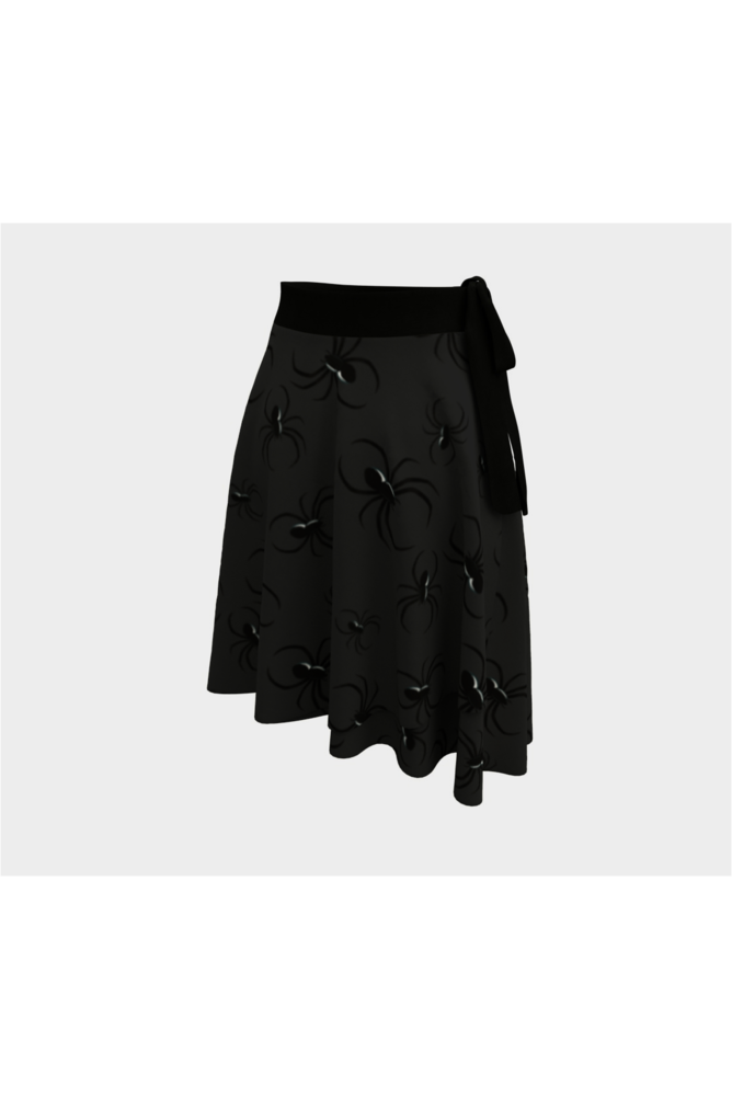 Charcoal Nights and Spiders Wrap Skirt