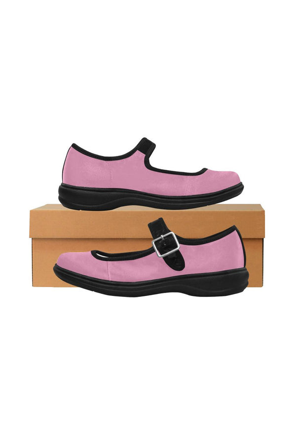 Pink Mila Satin Women's Mary Jane Shoes