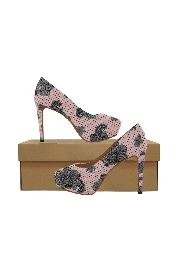 Paisley Hearts Women's High Heels - Objet D'Art Online Retail Store