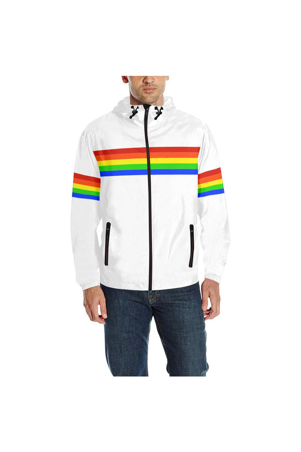 Rainbow Accented Quilted Windbreaker