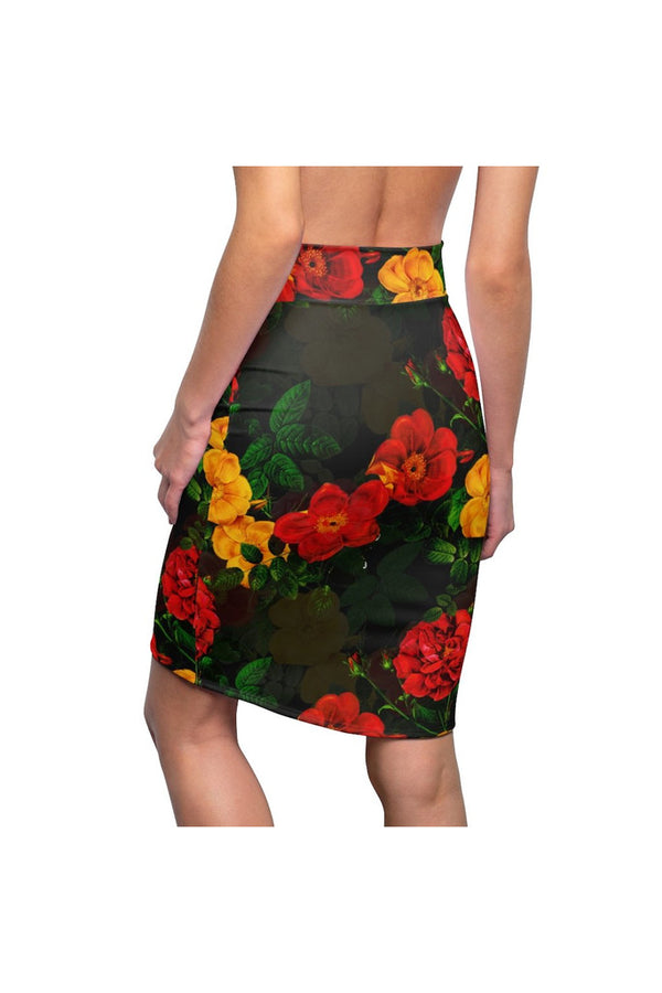 Floral  Women's Pencil Skirt