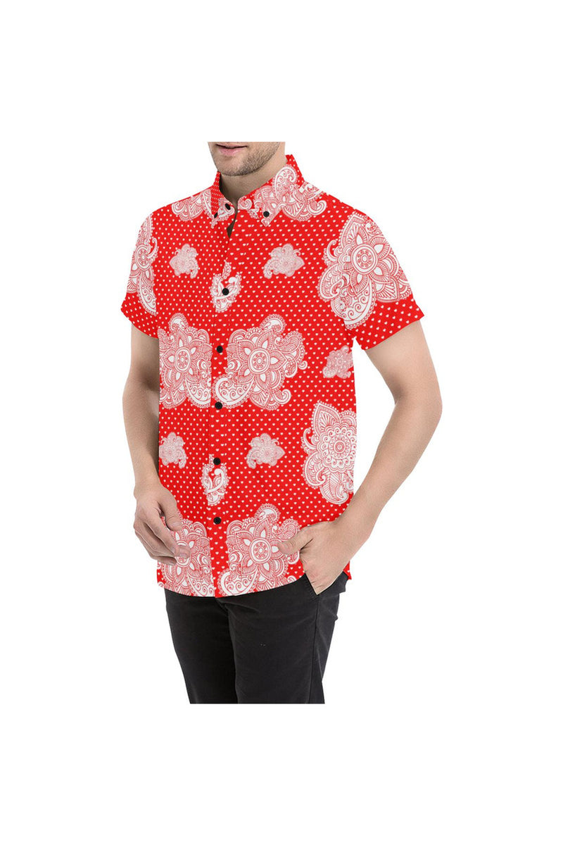 Floral Paisley Men's All Over Print Short Sleeve Shirt - Objet D'Art Online Retail Store