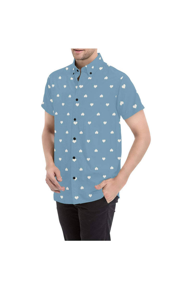 Hearts Large Men's All Over Print Short Sleeve Shirt/Large Size - Objet D'Art Online Retail Store