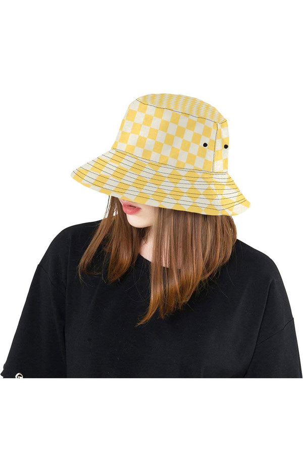 Aspen Gold Checker All Over Print Bucket Hat
