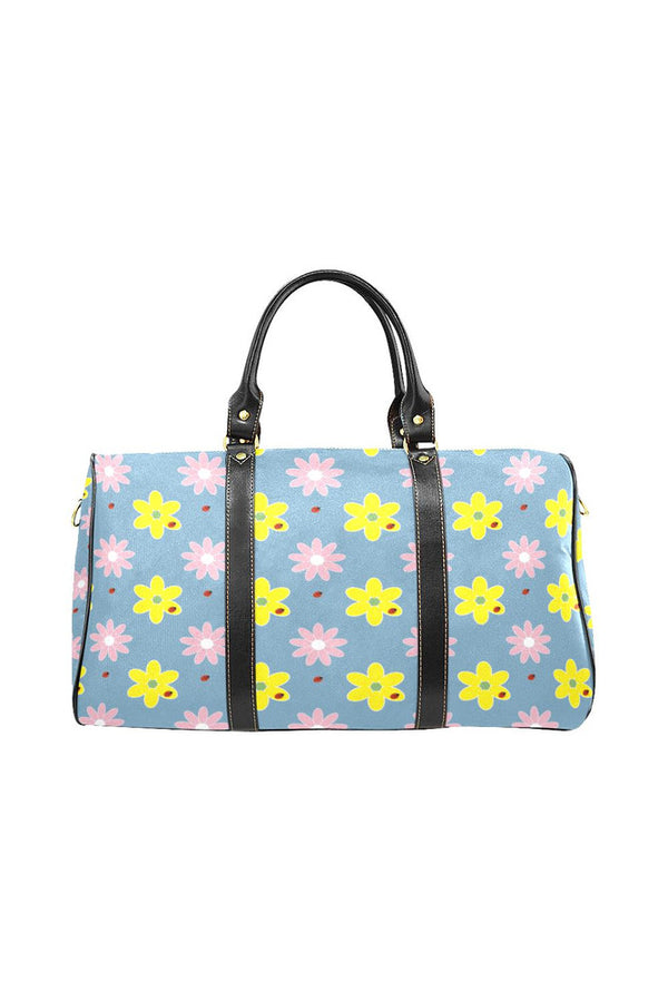 Floral Blue New Waterproof Travel Bag/Large - Objet D'Art Online Retail Store