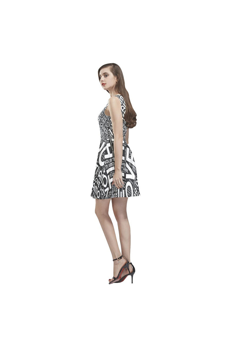 I LOVE YOU Thea Sleeveless Skater Dress - Objet D'Art Online Retail Store