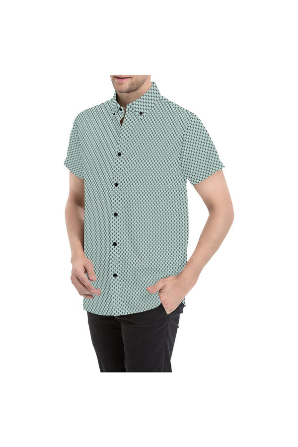 Fashion Oval Print Men's All Over Print Short Sleeve Shirt - Objet D'Art Online Retail Store