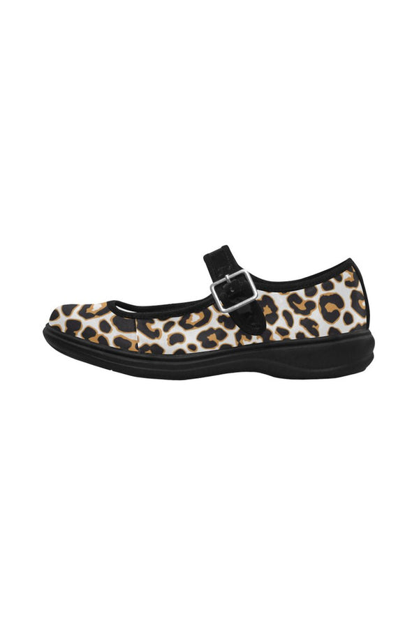 Leopard Print Mila Satin Women's Mary Jane Shoes (Model 4808)