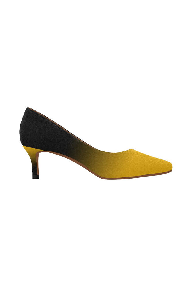 Fade Gold to Black Women's Pointed Toe Low Heel Pumps - Objet D'Art Online Retail Store