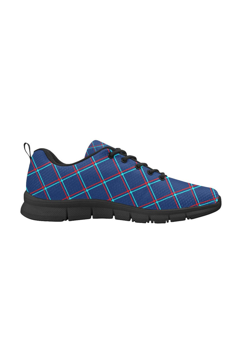 Cyan Plaid Women's Breathable Running Shoes - Objet D'Art Online Retail Store