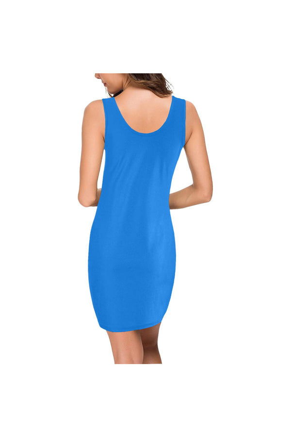 Coral Blue Medea Vest Dress (Model D06)