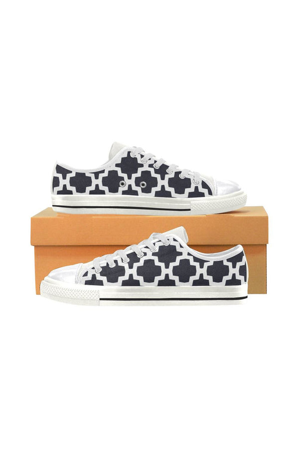 Geo Tessellation Women's Classic Canvas Shoes - Objet D'Art Online Retail Store