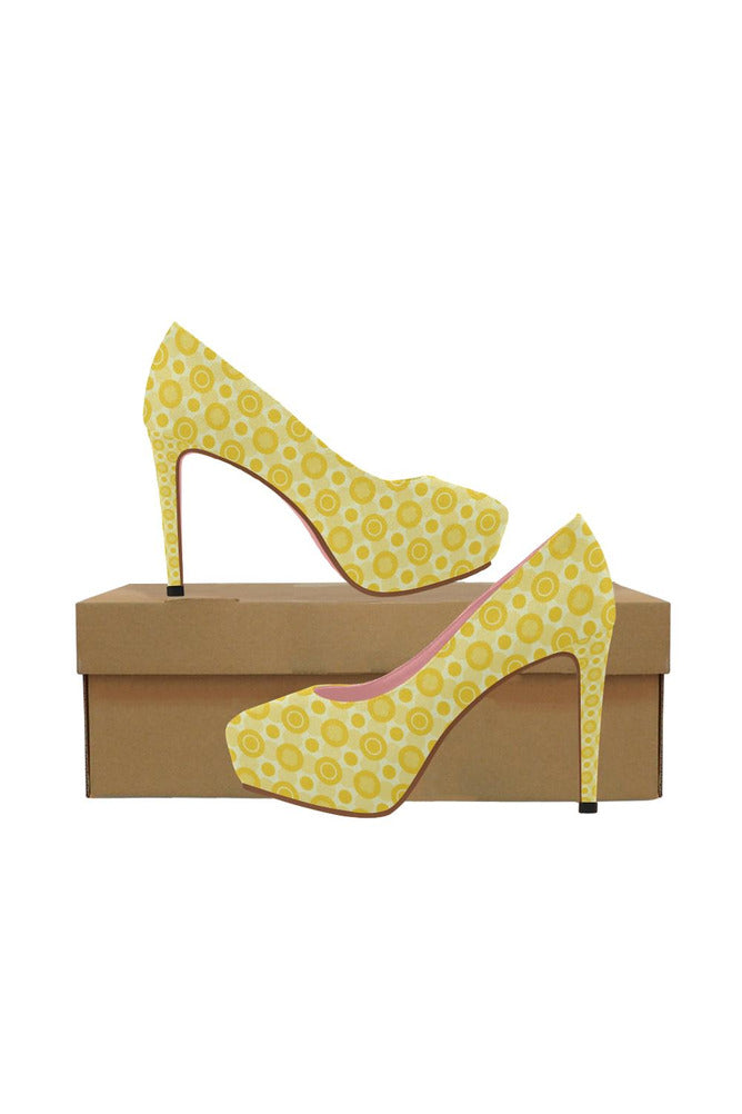 Yellow Women's High Heels