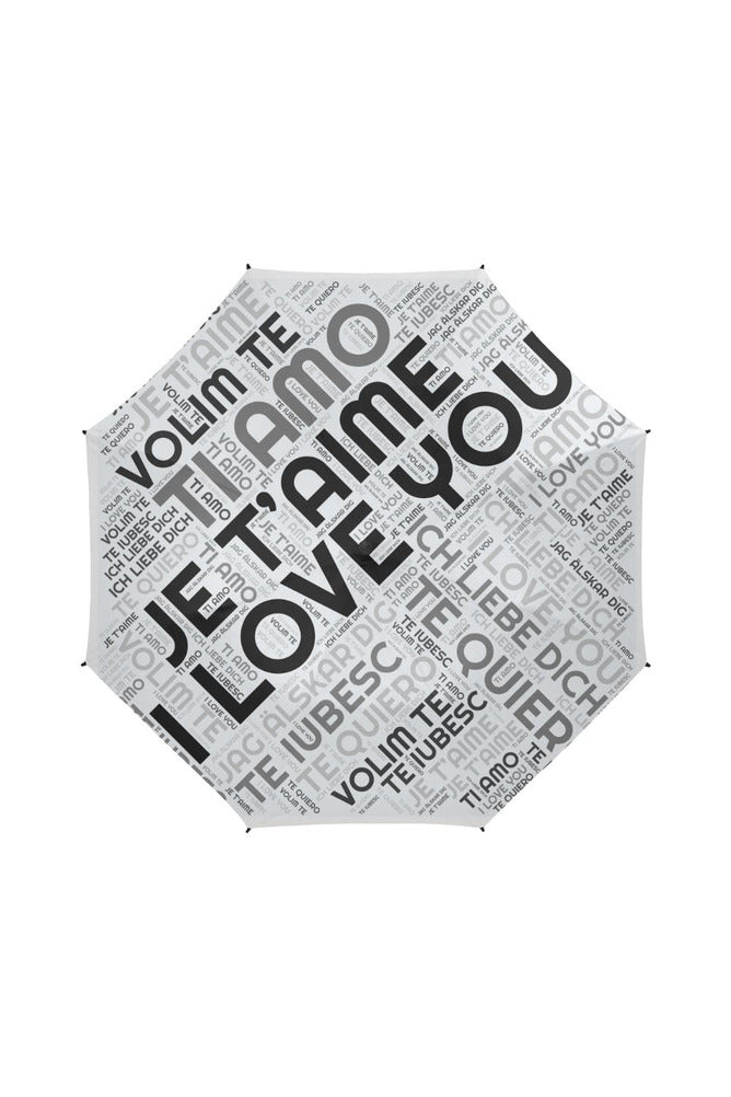 I LOVE YOU Semi-Automatic Foldable Umbrella - Objet D'Art Online Retail Store