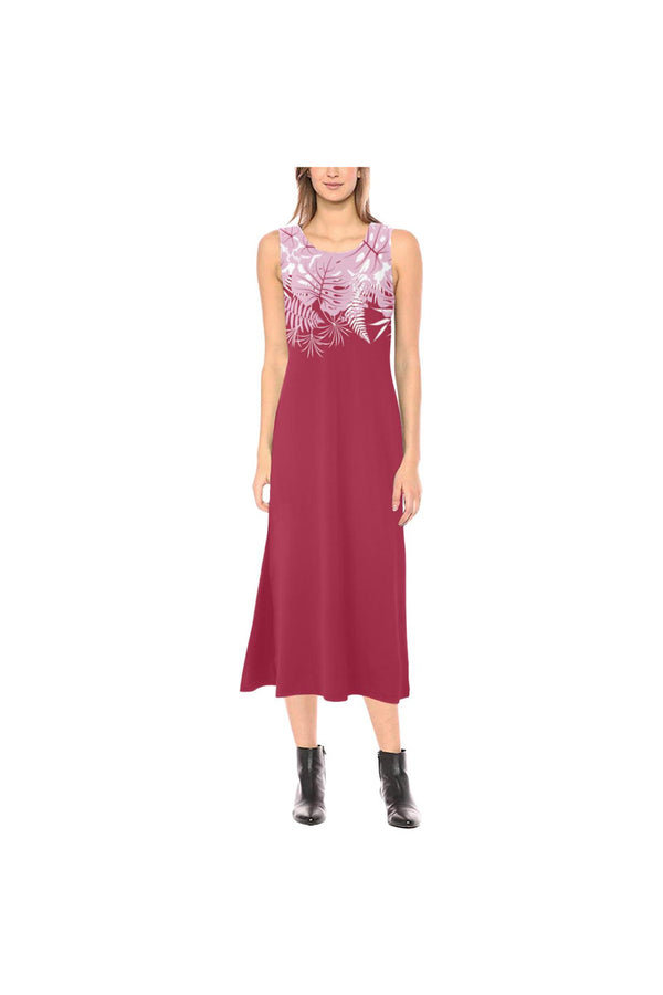 Peacock Pink Phaedra Sleeveless Open Fork Long Dress