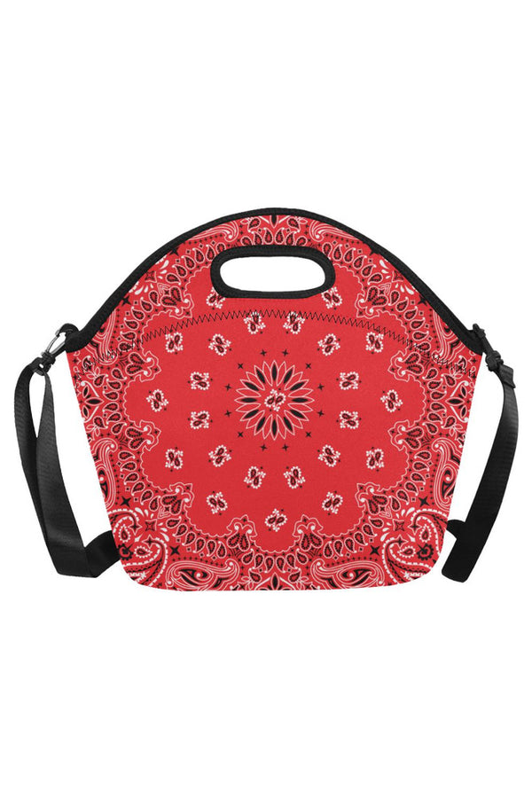 red bandana Neoprene Lunch Bag/Large (Model 1669)