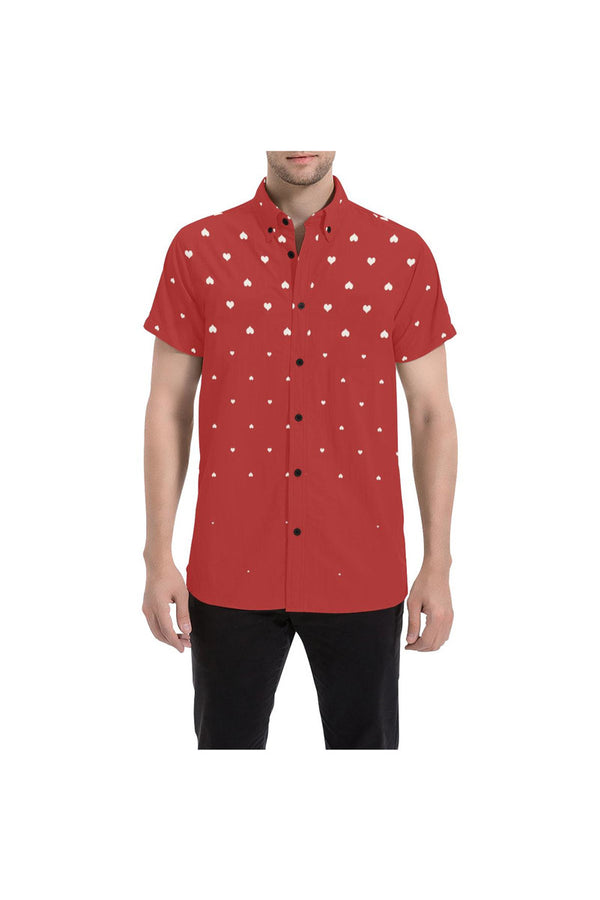 Heart Rising Large Men's All Over Print Short Sleeve Shirt/Large Size - Objet D'Art Online Retail Store