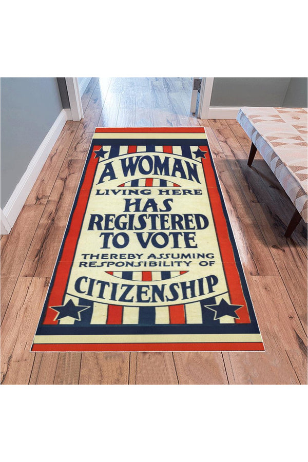 Women's Suffrage 100th Anniversary Area Rug