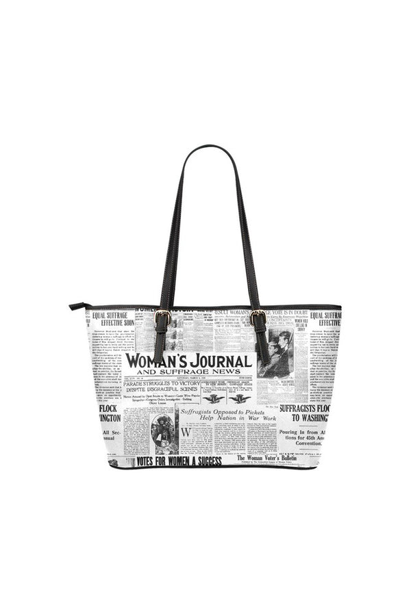 Women's Suffrage Leather Tote Bag/Small