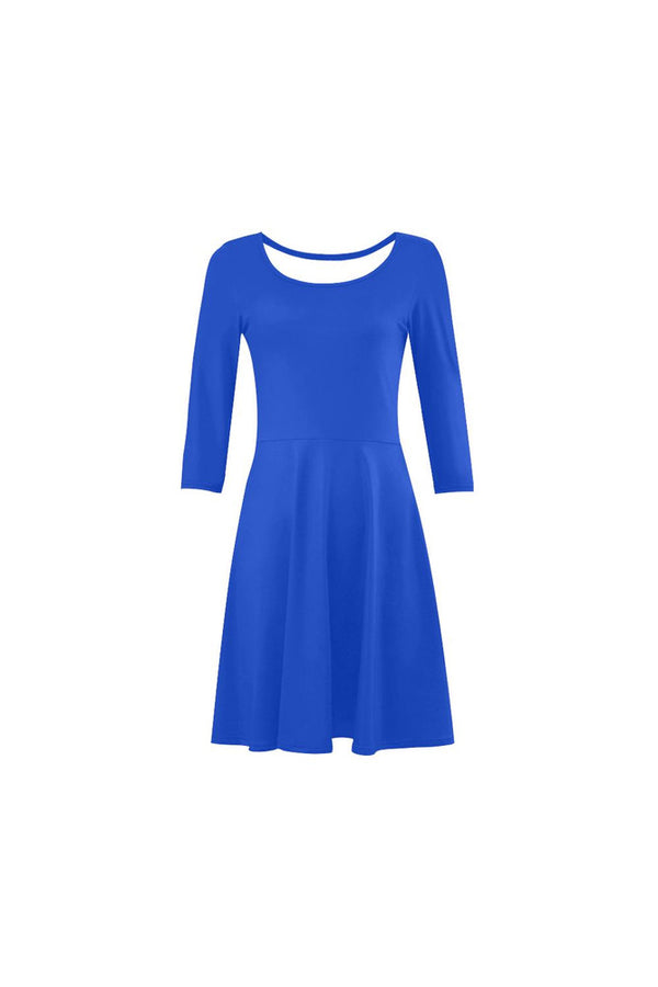 Blue Horizon 3/4 Sleeve Swing/Sundress