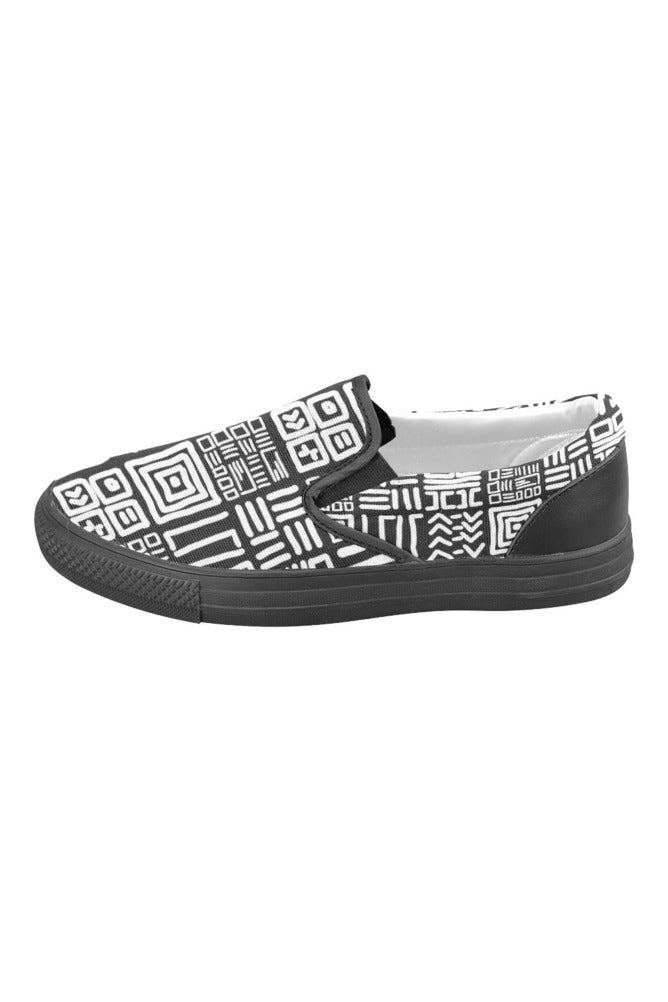 Tribal Pattern Men's Slip-on Canvas Shoes
