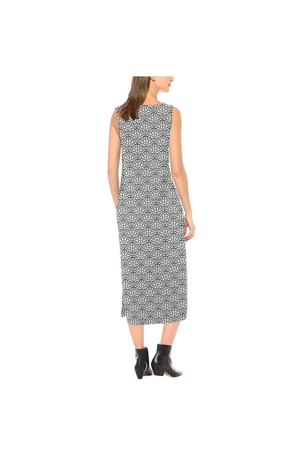 Scaled Phaedra Sleeveless Open Fork Long Dress
