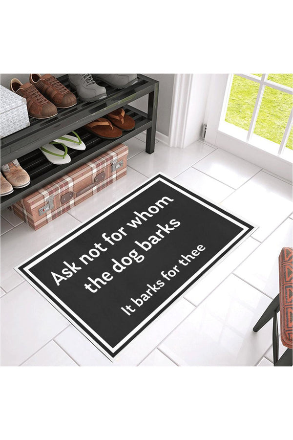 "For Whom the Dog Barks Azalea Doormat 30"" x 18"""