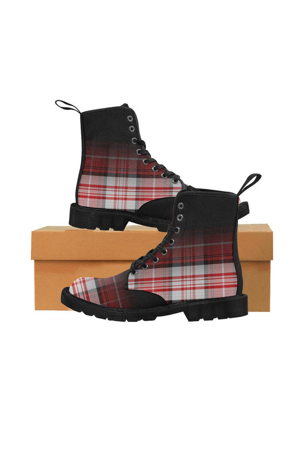 boot tartan 2 Martin Boots for Women (Black) (Model 1203H)