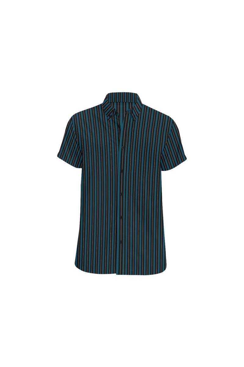 Classic Stripes Men's All Over Print Short Sleeve Shirt - Objet D'Art Online Retail Store