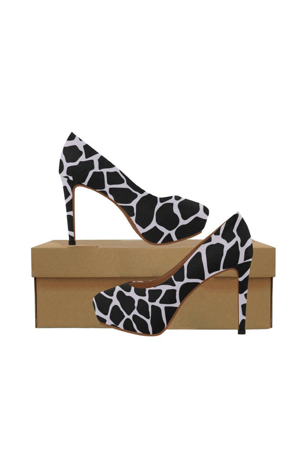Lilac Giraffe Women's High Heels