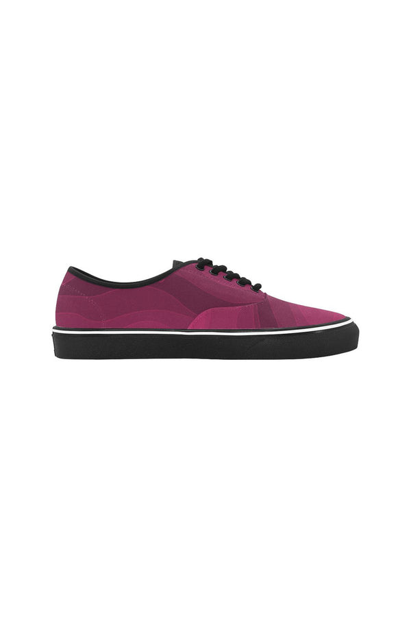 Pink Energy Classic Women's Canvas Low Top Shoes (Model E001-4)