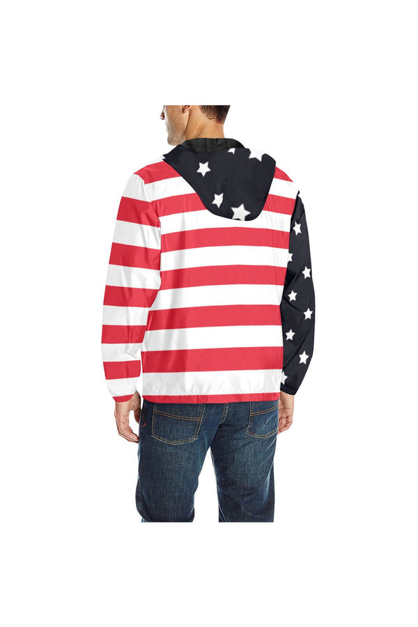 USA Stars & Stripe Quilted Windbreaker for Men (Model H35)
