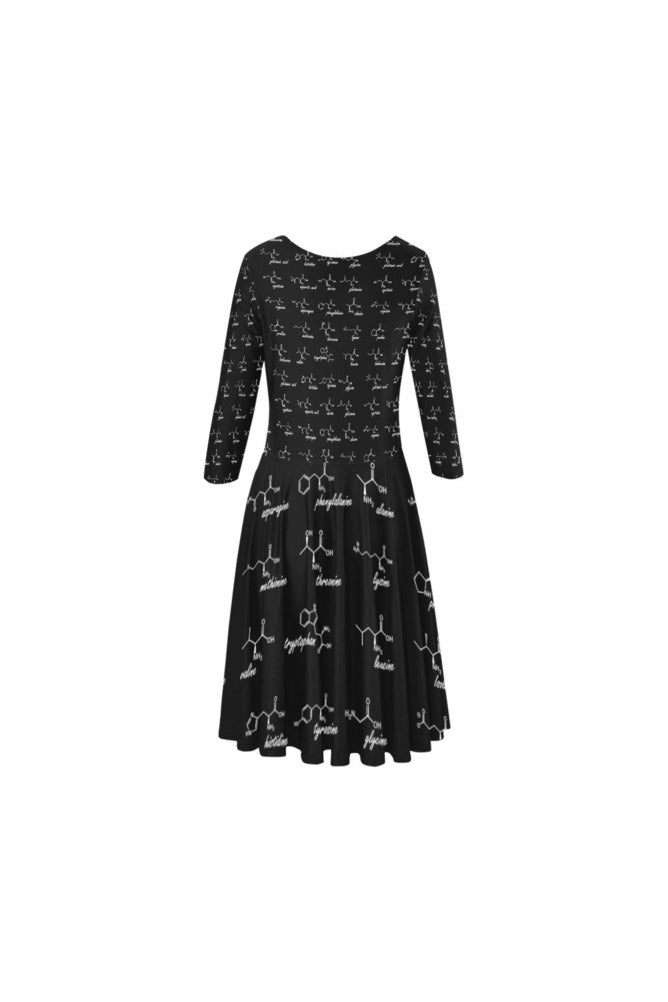 Amino Acids Elbow Sleeve Ice Skater Dress - Objet D'Art Online Retail Store