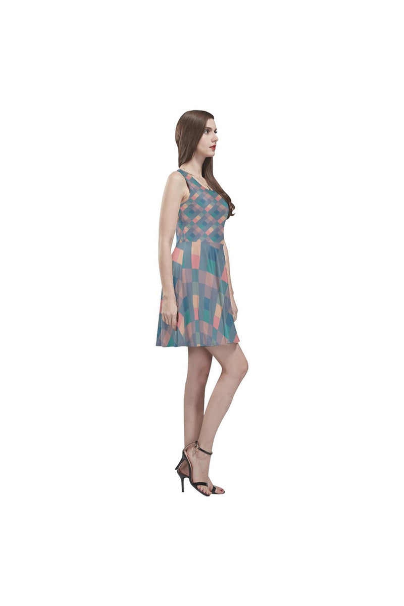 Pastel Pixels Thea Sleeveless Skater Dress - Objet D'Art Online Retail Store