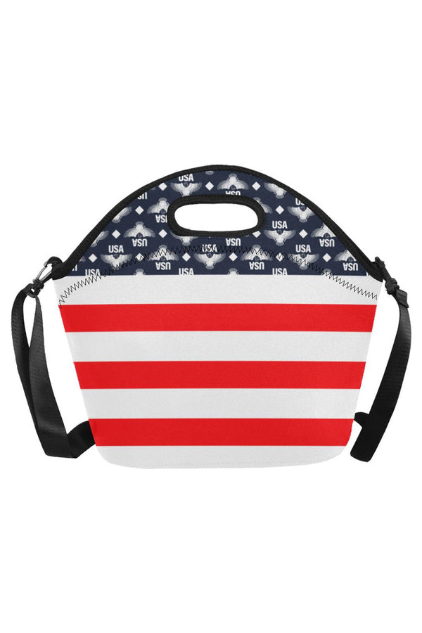 USA - FR STRIPE 3 Neoprene Lunch Bag/Large (Model 1669)