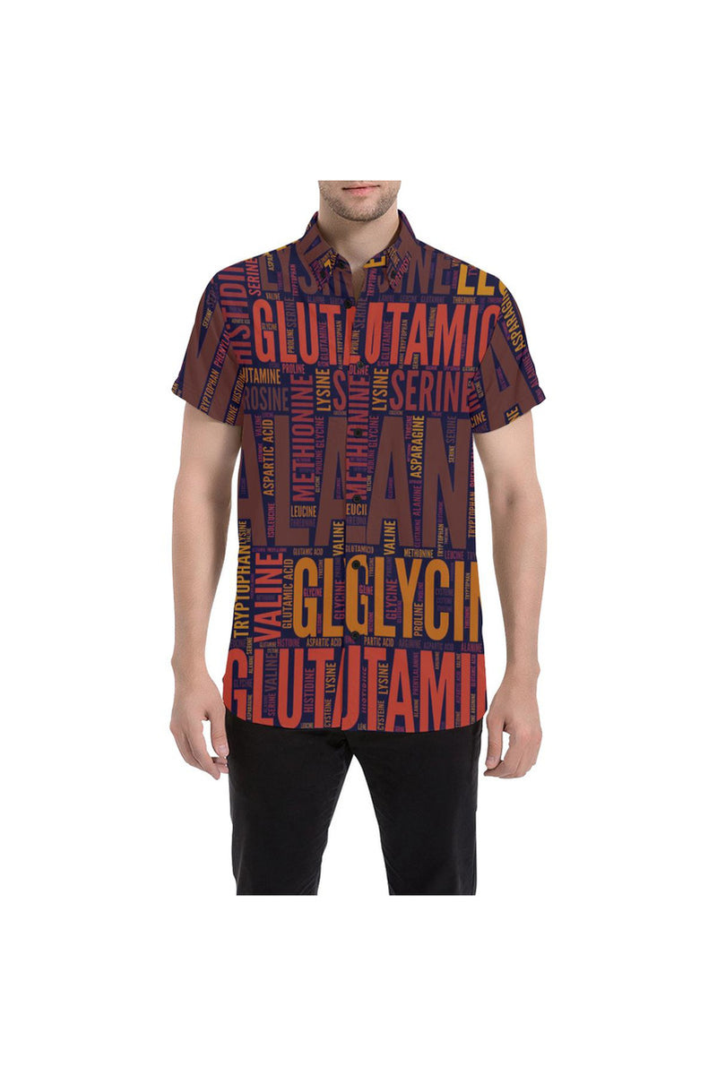 Amino Bambino Large Men's All Over Print Short Sleeve Shirt/Large Size - Objet D'Art Online Retail Store