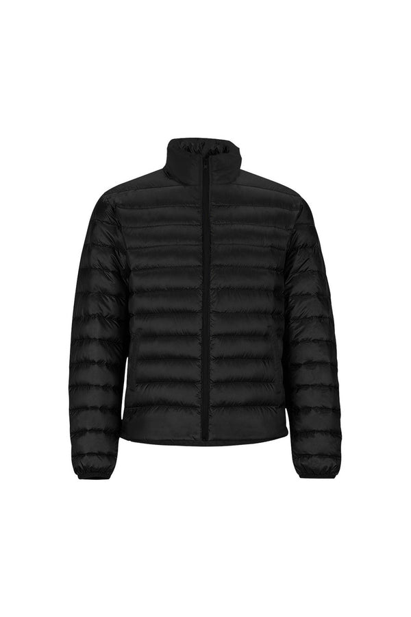 Black Unisex Stand Collar Padded Jacket