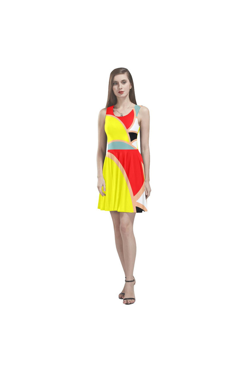 Primary Colored Thea Sleeveless Skater Dress - Objet D'Art Online Retail Store