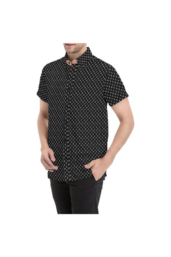 Planetary Symbols Men's All Over Print Short Sleeve Shirt