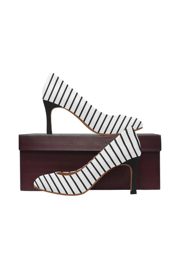 striped Women's High Heels (Model 048)