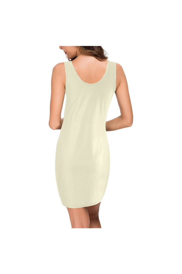 Cream Medea Vest Dress (Model D06)