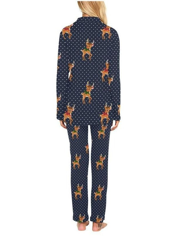 Reindeer Relaxation Women's Long Pajama Set