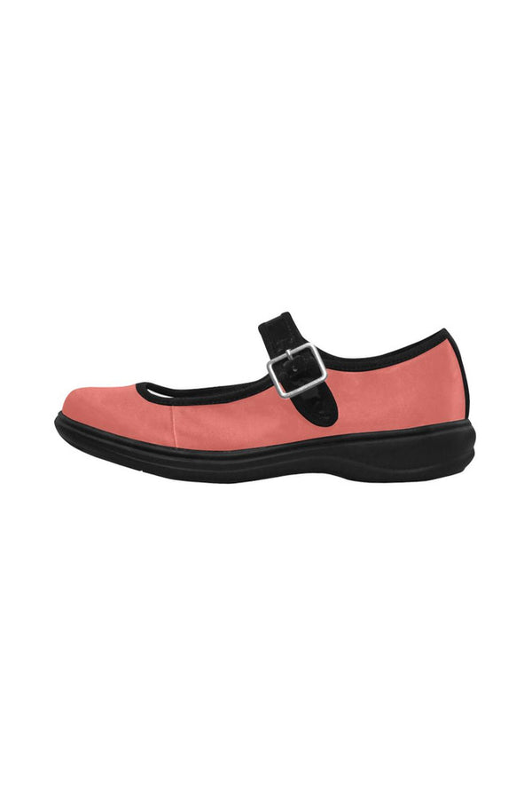 Living Coral Mila Satin Women's Mary Jane Shoes (Model 4808)