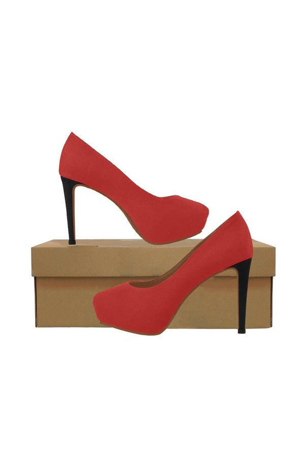 Crimson Red Women's High Heels