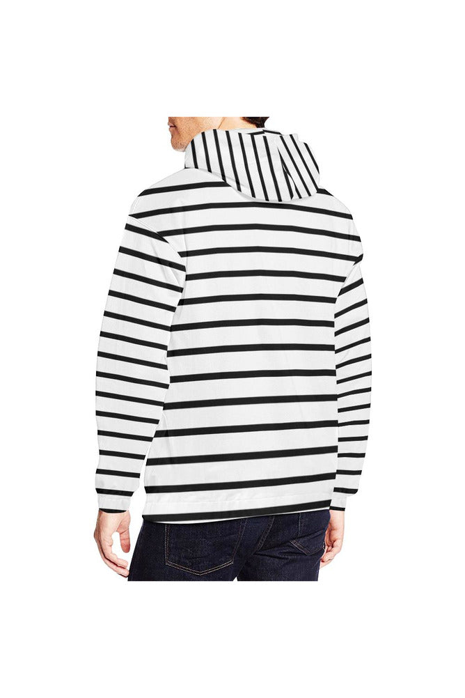 Between the Lines All Over Print Hoodie for Men/Large Size - Objet D'Art Online Retail Store